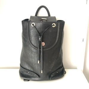 Meli Melo black leather backpack
